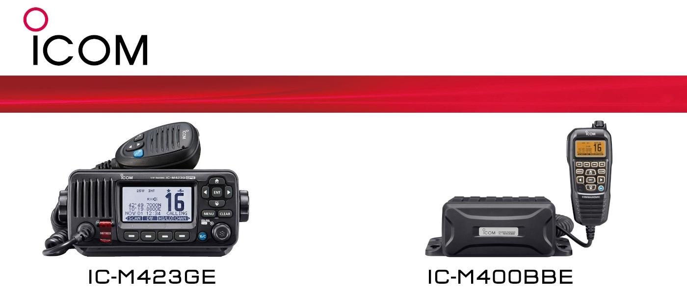 IC-M423GE and IC-M400BBE Fixed Marine VHF radios, Back by Popular Demand