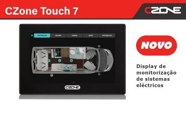 Novo display Touch 7 da CZone com processador ultrarrápido