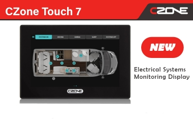 New CZone Touch 7 display with ultra-fast processor