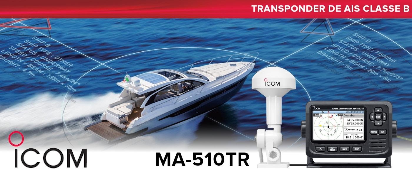 New Icom Standalone MA-510TR Class B AIS Transponder with Colour TFT Display