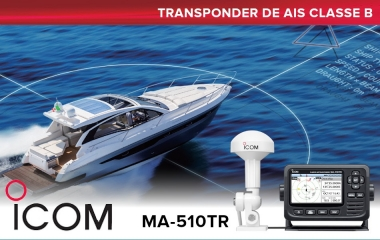 New Icom Standalone MA-510TR Class B AIS Transponder with Colour TFT Display