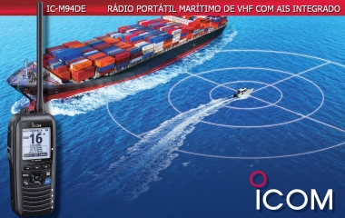 Icom IC-M94DE, The World's First Marine Handheld with a Built-In AIS Receiver!