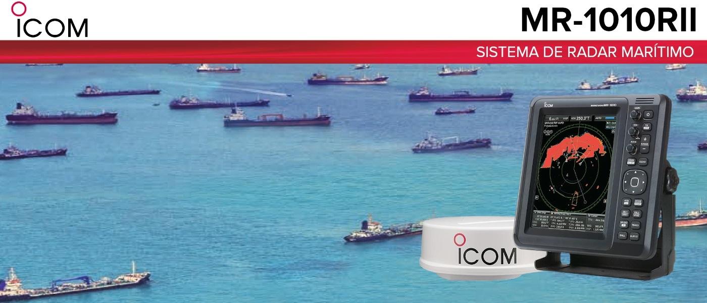 ICOM lança novo Sistema de Radar marítimo ICOM modelo MR-1010II