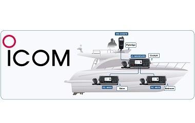 Rádio Fixo de VHF Marítimo Icom IC-M605E com Configurações Flexíveis