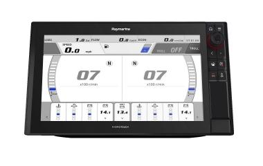 Axiom da Raymarine suporta Integração Command Link da Yamaha