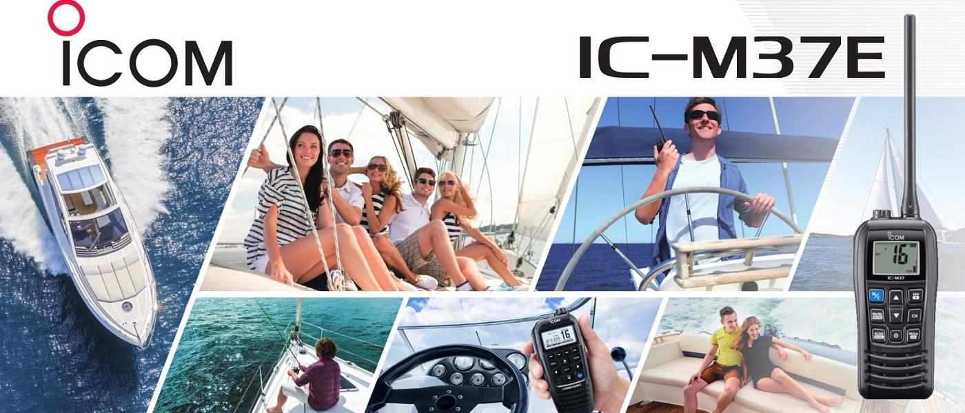 Icom presents the new IC-M37E Handheld VHF Marine Radio