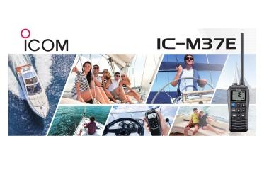 Icom apresenta o novo Rádio Portátil de VHF Marítimo IC-M37E