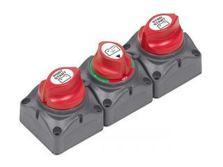 715-S - Sistema com 3 Comutadores de Baterias p/ 2 Bancos de Baterias