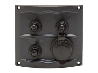 900-3WPS - Painel c/ 3 Interruptores e Tomada de Isqueiro  12V