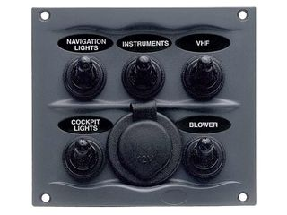 900-5WPS –  5x Switches Waterproof Panel & 12V Socket