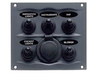 Painel de 5 interruptores à prova de salpicos 5WPS