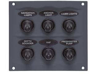 900-6WP - Painel c/ 6 Interruptores à Prova de Salpicos