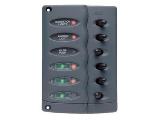 CSP6-F – Contour Switch Panel, Waterproof 6 Way w/ Fuse Holder