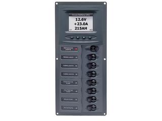 901V-DCSM - Quadro Elétrico c/ 8 Disjuntores e Medidor Digital de Voltagem
