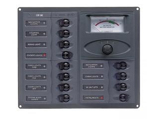 902-AM - Quadro Elétrico c/ 12 Disjuntores e Medidor Analógico de Voltagem