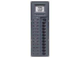 902V-DCSM – Quadro Elétrico DC Vertical de 12 Disjuntores c/ Medidor Digital de Voltagem