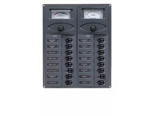 904-AM – DC Panel - 16-Way – Analog Meter