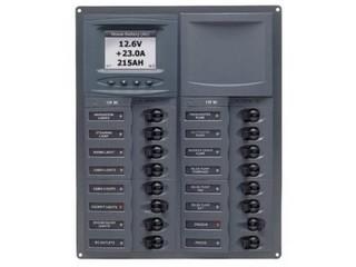 904-DCSM – Quadro Elétrico DC de 16 Disjuntores c/ Medidor Digital de Voltagem