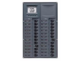 905V-DCSM – Quadro Elétrico DC Vertical de 24 Disjuntores c/ Medidor Digital de Voltagem