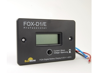 FOX-D1/E - Flush Mount Voltage/Current LCD Display