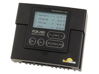 FOX-260 Solar Charge Controller w/ LCD Display