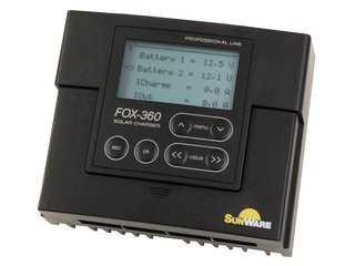 FOX-360 Solar Charge Controller  w/ LCD for 2 Independent Battery Sistems