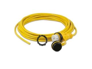 15M32AX - Cordset, 32A 230V, 15M, Blunt Cut, Yellow