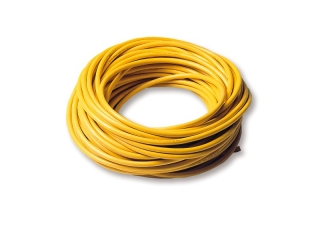 Yellow molded oil resistant cable, 3x 2.5 mm², 25 meter