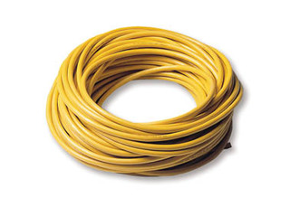 Yellow molded oil resistant cable, 3x4 mm², per meter