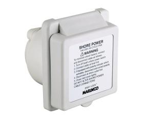 301EL-BXPK – Tomada Padrão, 16A 230V, Poliéster Branco c/ 2 Polos e Proteção Traseira
