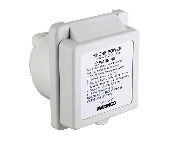 301EL-BXPK - Inlet, 16A 230V, Square, White