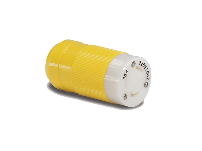 305CRCXNPK - Female Connector, 16A 230V, Yellow