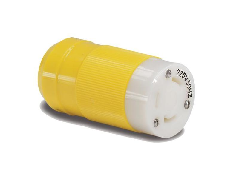 6360CRNX - Female Connector, 32A 230V, Yellow
