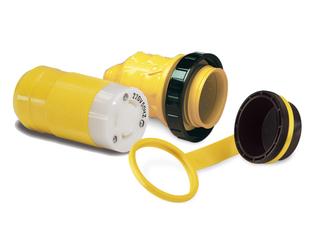 Kit Conector 32A, 230V com ficha fêmea, Protetor e Tampa à Prova de Água