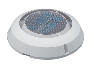 "MiniVent 1000 – 3"" Solar Exhaust Vent. Plastic ABS White"