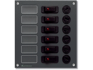 DC switchboard, 6 circuit/15 A max. per outlet