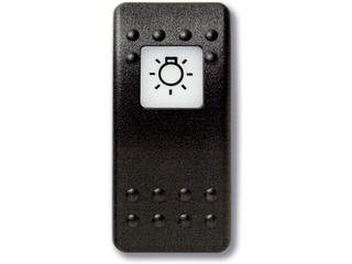 Botão estanque com legenda (pictograma) - luz principal.