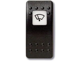 Botão estanque com legenda (pictograma) - limpa pára-brisas.