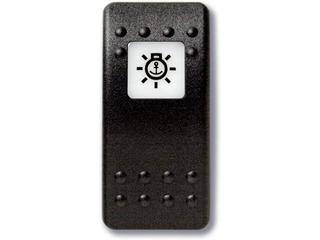 Botão estanque com legenda (pictograma) - luz de fundeado.