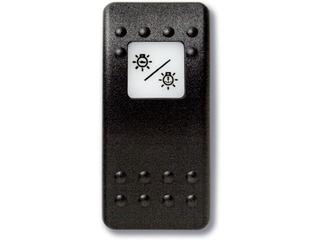 Botão estanque com legenda (pictograma) - iluminação / luz de fundear.