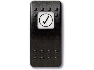 Botão estanque com legenda (pictograma) - check - teste.