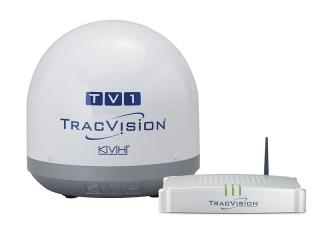 TracVision TV1 – Antena Marítima de TV por Satélite c/ TV-Hub e LNB Universal