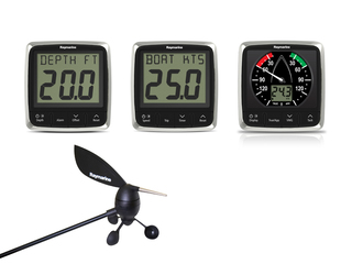 Pack display instrumentação i50 Depth, i50 Speed, i60 Wind e 3 transdutores