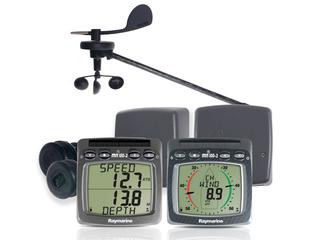 Sistema s/fios de Odómetro, Sonda, Anemómetro e NMEA e com transdutor  T911 e transdutor T912
