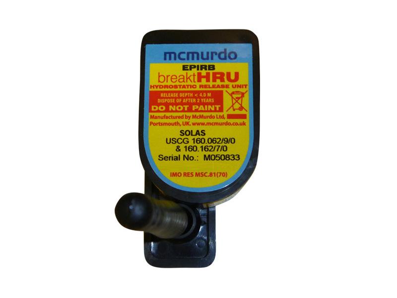 HRU‐Disparador hidrostático para Radiobalizas Mcmurdo E3/G4, E5/G5, Rescue 406 / Precision 406, Locat LDT61A, MCM406A, NOVA RT260M