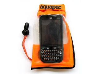 Small Stormproof Phone Case - Waterproof case for smartphones. Orange