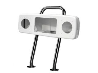 SPH-4XI-W Helm Pod Branco para 4 Instrumentos de Navegação ou 2 Instrumentos + Display de 7