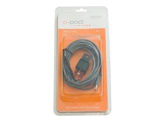 Relé de 12Vdc, USB; Preto/Cinzento
