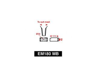 Suporte de mastro para refletor de radar EM180