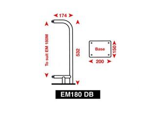 Suporte de superfície para refletor de radar EM180